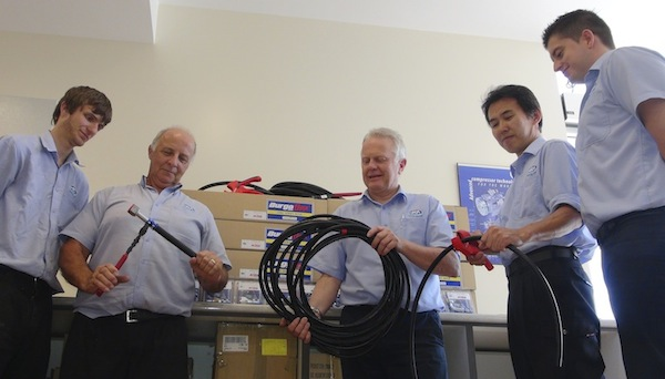 First flexible hose kit shipment being prepared